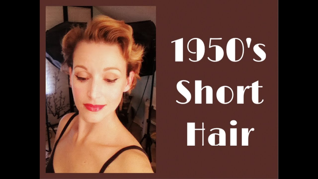 1950's short hairstyle