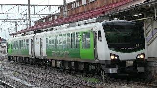 JR大糸線 信濃大町駅 HB‐E300系(リゾートビューふるさと)