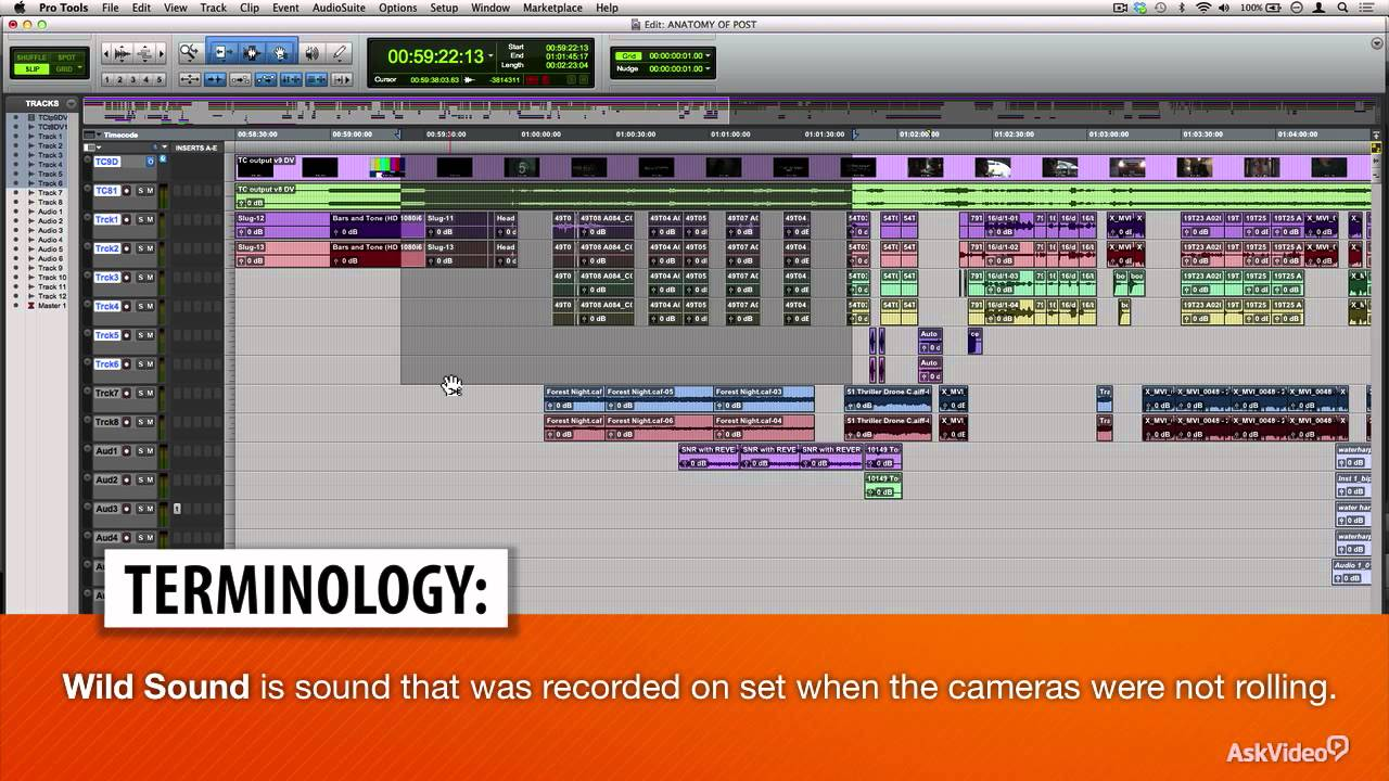 Pro Tools 302 Dialog Editing For Film Tv 1 Session Layout