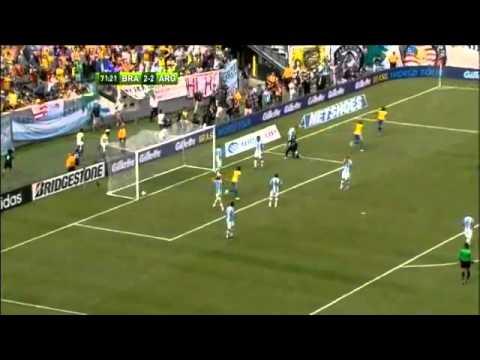 Brazilië - Argentinië 3-4 - Hattrick Lionel Messi - YouTube