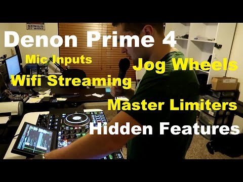 Top Hidden Features On The Denon Prime 4 (Wifi Streaming, Limiters, Mic Inputs)