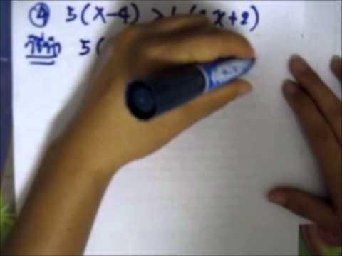 การแก้อสมการเชิงเส้นตัวแปรเดียว