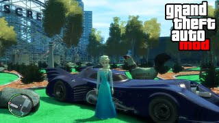 """FROZEN 2 BATMAN MOD"" GTA Gameplay & Car Mods (GTA IV PC Modding)"