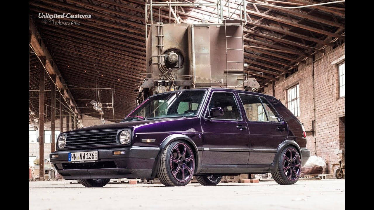 vw golf 2 fire and ice 16v by unlimited customs youtube. Black Bedroom Furniture Sets. Home Design Ideas