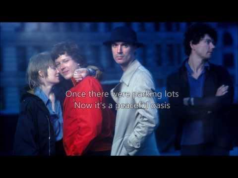 Talking Heads - (Nothing But) Flowers (Lyrics on screen)