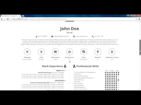 How to Make Infographic CV   Realtime CV Online Tool - YouTube