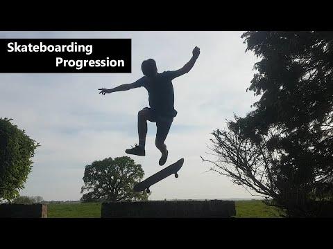 1 YEAR OF SKATEBOARDING PROGRESSION!