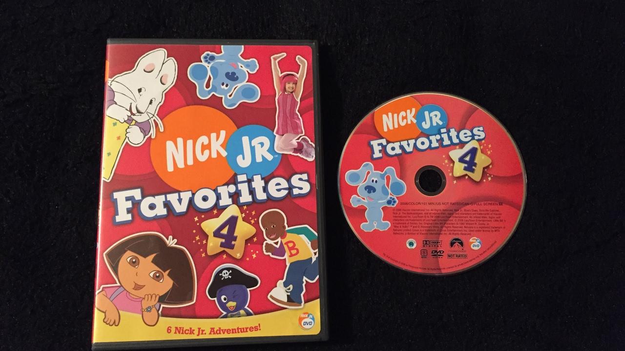 Pics photos description from nick jr favorites vol 2 dvd wallpaper - Opening To Nick Jr Favorites Volume 4 2006 Dvd Youtube