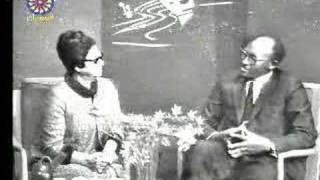 لقاء نادر للسيدة أم كلثوم من السودان