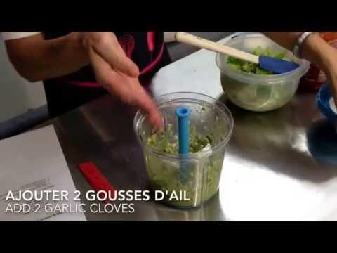 recette-facile-tupperware-salade-romaine-avec-vinaigrette-à-l'avocat-/-avocado-vinaigrette-salad