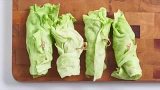 Овощи-гриль, фаршированные в листьях салата