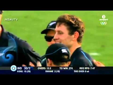 Matt Henry 4 Wickets vs. India (ODI Debut 2014)