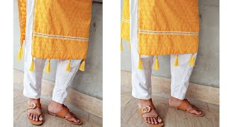 How to attach tassels to kurti for designing