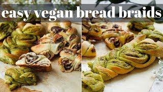 2 INGREDIENT BREAD BRAIDS [EASY & VEGAN] | PLANTIFULLY BASED