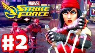 Marvel Strike Force - Gameplay Walkthrough Part 2 - Elektra and Daredevil!