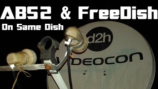 ABS 2 & FreeDish ¦ On Single 60cm Dish