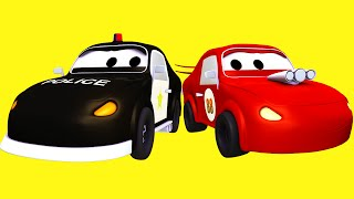 The Car Patrol and the Big Race with the Red Racing Car and the Bad Car in Car City | Kids Cartoon