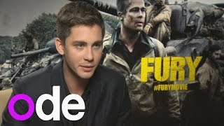logan lerman interview fury actor on texting brad pitt and loving the english countryside