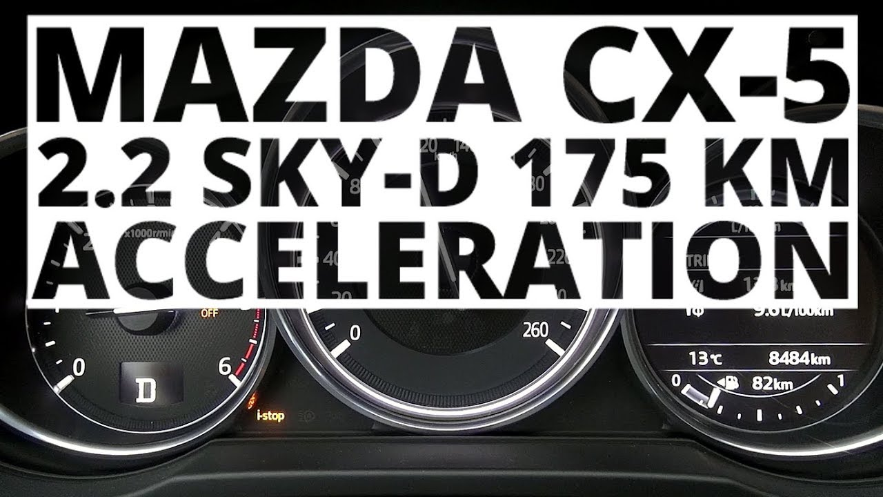 Mazda CX-5 2.2 Sky-D 175 hp (AT) – acceleration 0-100 km/h