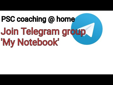PSC coaching at home , conducted by My Notebook in telegram messaging  platform