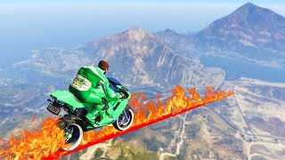 SURVIVE THE FIRE TIGHTROPE! (GTA 5 Funny Moments)