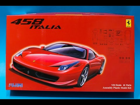 Fujimi 1/24 Ferrari 458 Italia Model Kit Review