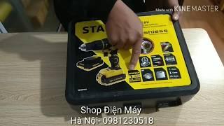Máy khoan Pin Stanley SBH 201D2K-Stanley SBH201D2K SBH201 SBH 201