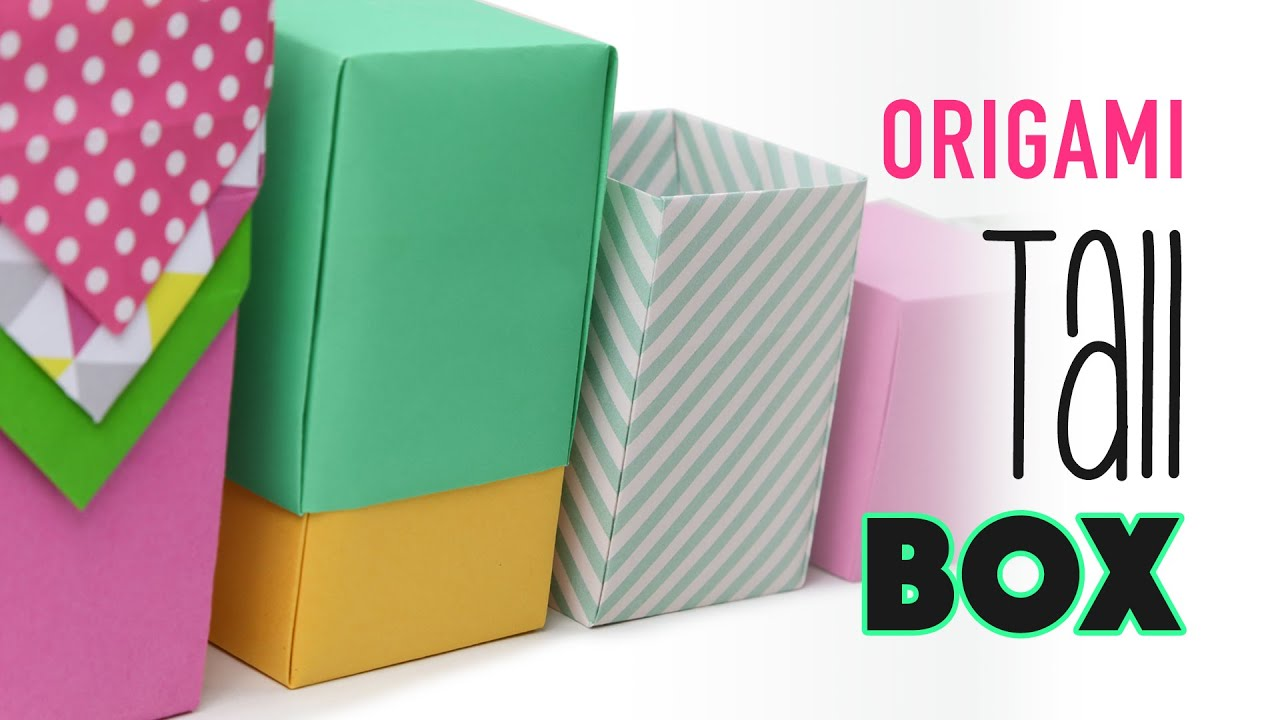 Tall Origami Box Instructions Any Size Diy Youtube