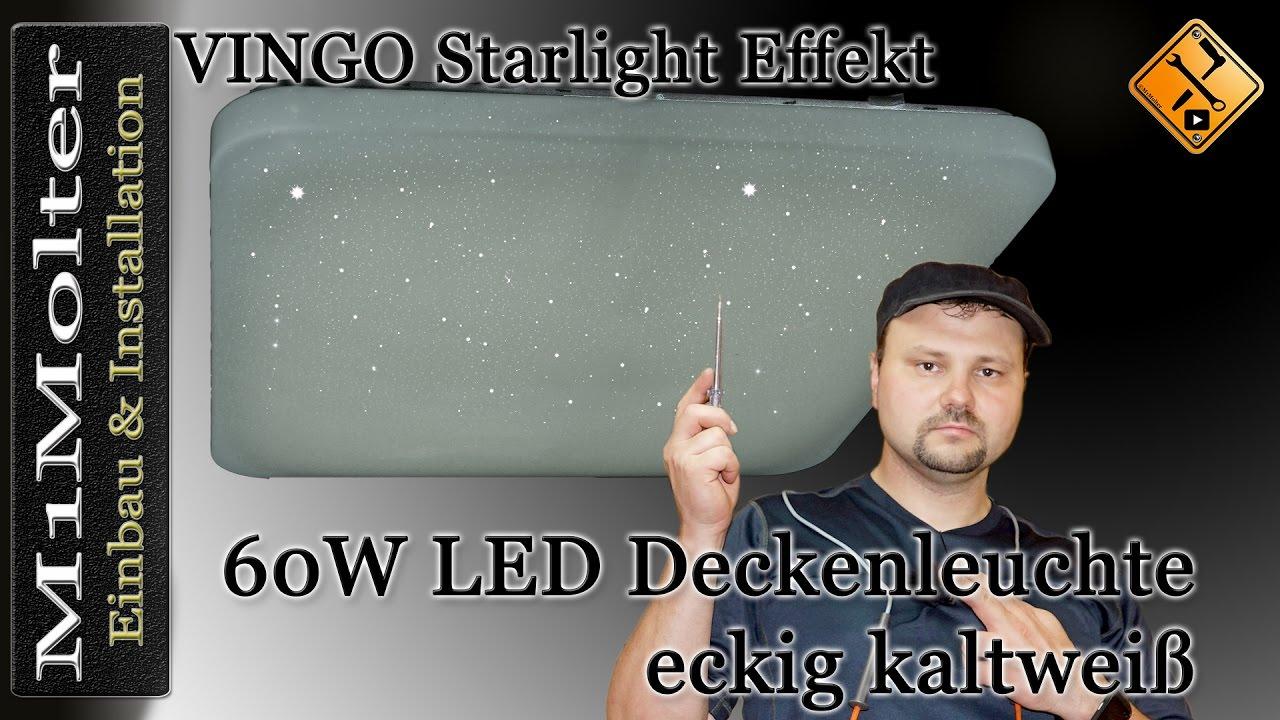 Vingo 60 watt led sternenhimmel deckenlampe starlight for Led deckenlampe eckig