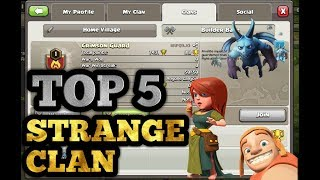TOP 5 STRANGEST VILLAGES IN CLASH OF CLAN |TOP 5 WEIRDEST CLAN IN CLASH OF CLANS |HINDI|