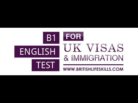 B1 English test for British Citizenship