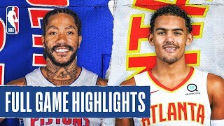 PISTONS at HAWKS   FULL GAME HIGHLIGHTS   January 18, 2020