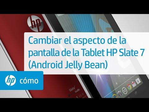 Cambiar el aspecto de la pantalla de la Tablet HP Slate 7 (Android Jelly Bean) | HP SlateBook | HP