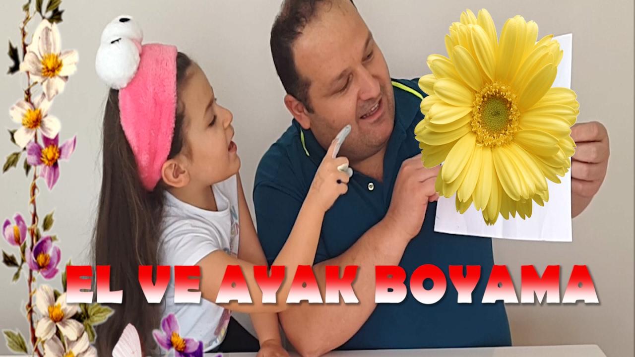 Ayak Boyama Ve El Boyama Yaptik Hatice Zehra Ya Ani Olusturduk