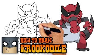 How to Draw Krookodile | Pokemon