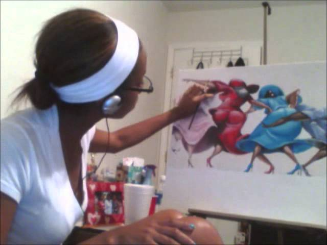 "Me Painting A Portion of ""Amen"""