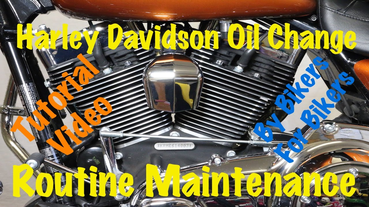 Harley Davidson Softail Oil Change Instructions