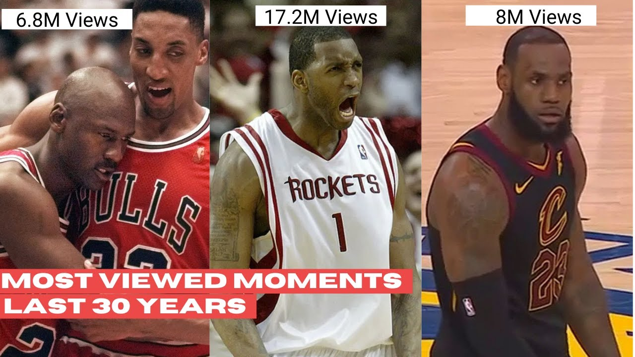 The Most Viewed NBA Moment Each Year! (Last 30 Years)