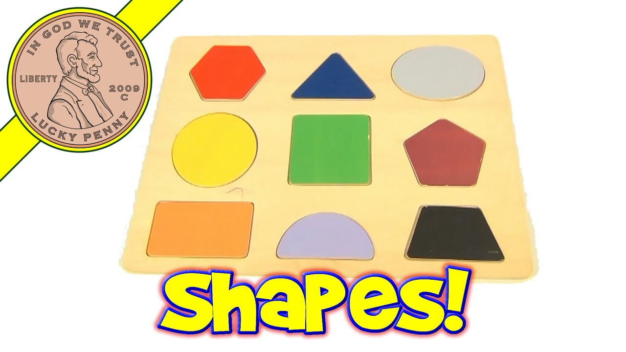 Learn Shapes And Colors Wood Puzzle