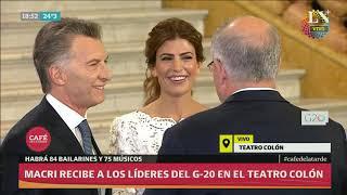 El recibimiento a los líderes del G-20 en el Teatro Colón