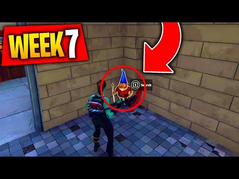 """Fortnite ALL """"Search The Hidden Gnome in Different Named Locations"""" Week 7 Locations Challenge"""