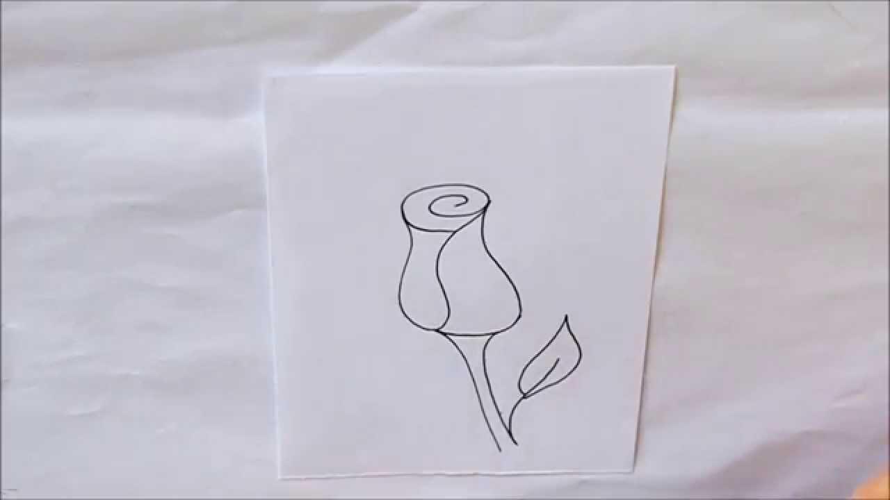 C mo dibujar una rosa r pido y f cil dibuja conmigo - Como secar una rosa ...