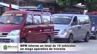 Operativo de tránsito calle Aguirre