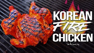 Spicy Korean Fire Chicken - the Best Whole Chicken Recipe EVER!  SAM THE COOKING GUY 4K