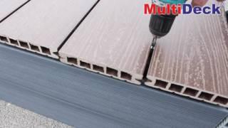 Монтаж террасной доски из ДПК(Монтаж террасной доски MultiDeck из древесно-полимерного композита. Высокое качество. Экологичность. Гарантия..., 2016-06-29T13:46:24.000Z)