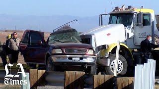 California highway crash kills at least 13 people