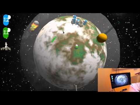 Zombie Planet, A Game Prototype For The Leap Motion