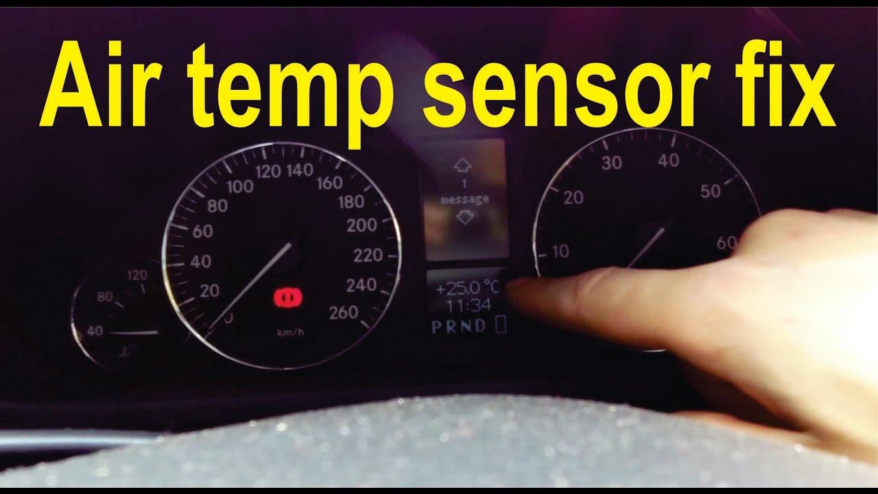 How to fix the air temperature sensor on a Mercedes (W203