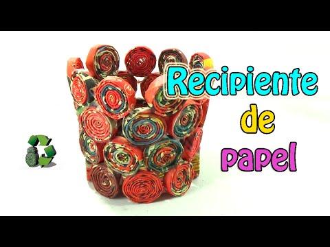 25 manualidades cesta de papel reciclaje ecobrisa - Manualidades de papel ...