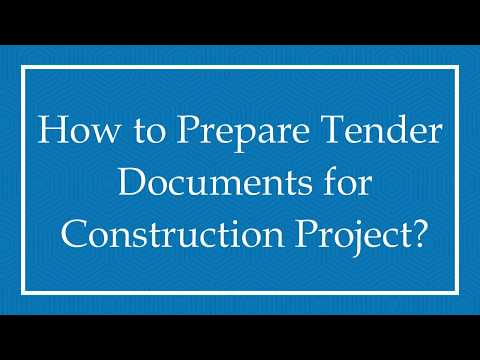 How to Prepare Tender Documents for Construction Project?